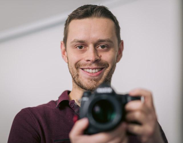 Portrait de Pierre Saint Remy, photographe